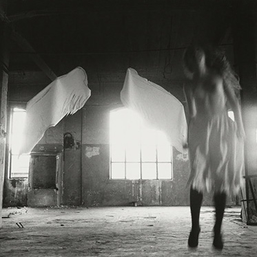 Francesca Woodman, From Angel series, Rome, Italy, 1977 © George and Betty Woodman NB: No toning, cropping, enlarging, or overprinting with text allowed.
