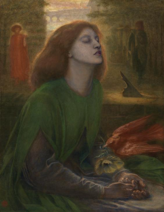 Beata Beatrix c.1864-70 Dante Gabriel Rossetti 1828-1882 Presented by Georgiana, Baroness Mount-Temple in memory of her husband, Francis, Baron Mount-Temple 1889